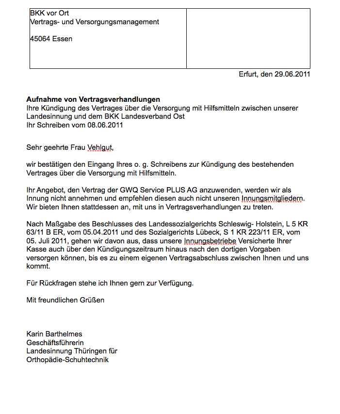 Briefe Datum Und Ort : Vertragsdiktat ohne verhandlungen die bkk vor ort macht
